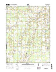 Kenton Delaware Current topographic map, 1:24000 scale, 7.5 X 7.5 Minute, Year 2016