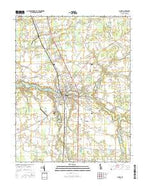 Laurel Delaware Current topographic map, 1:24000 scale, 7.5 X 7.5 Minute, Year 2016 from Delaware Map Store