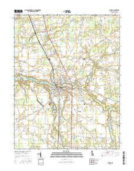 Laurel Delaware Current topographic map, 1:24000 scale, 7.5 X 7.5 Minute, Year 2016