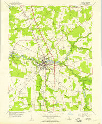 Laurel Delaware Historical topographic map, 1:24000 scale, 7.5 X 7.5 Minute, Year 1955
