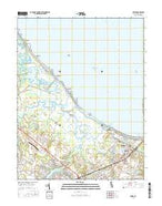 Lewes Delaware Current topographic map, 1:24000 scale, 7.5 X 7.5 Minute, Year 2016 from Delaware Map Store