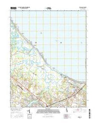 Lewes Delaware Current topographic map, 1:24000 scale, 7.5 X 7.5 Minute, Year 2016