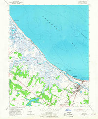Lewes Delaware Historical topographic map, 1:24000 scale, 7.5 X 7.5 Minute, Year 1954