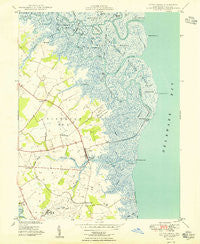 Little Creek Delaware Historical topographic map, 1:24000 scale, 7.5 X 7.5 Minute, Year 1949