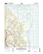 Little Creek Delaware Current topographic map, 1:24000 scale, 7.5 X 7.5 Minute, Year 2016 from Delaware Map Store