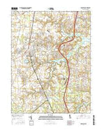 Middletown Delaware Current topographic map, 1:24000 scale, 7.5 X 7.5 Minute, Year 2016 from Delaware Map Store