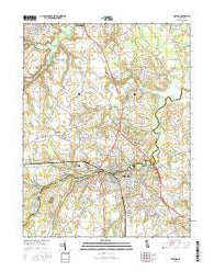 Milford Delaware Current topographic map, 1:24000 scale, 7.5 X 7.5 Minute, Year 2016