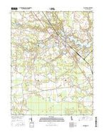 Millsboro Delaware Current topographic map, 1:24000 scale, 7.5 X 7.5 Minute, Year 2016 from Delaware Map Store