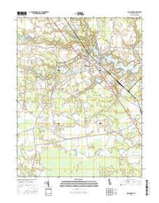 Millsboro Delaware Current topographic map, 1:24000 scale, 7.5 X 7.5 Minute, Year 2016 from Delaware Maps Store