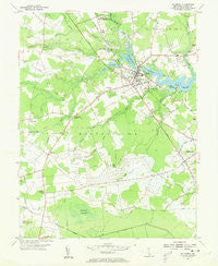 Millsboro Delaware Historical topographic map, 1:24000 scale, 7.5 X 7.5 Minute, Year 1954
