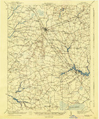 Millsboro Delaware Historical topographic map, 1:62500 scale, 15 X 15 Minute, Year 1917