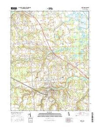Milton Delaware Current topographic map, 1:24000 scale, 7.5 X 7.5 Minute, Year 2016