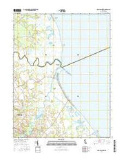 Mispillion River Delaware Current topographic map, 1:24000 scale, 7.5 X 7.5 Minute, Year 2016 from Delaware Maps Store