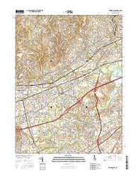 Newark East Delaware Current topographic map, 1:24000 scale, 7.5 X 7.5 Minute, Year 2016