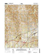 Newark West Delaware Current topographic map, 1:24000 scale, 7.5 X 7.5 Minute, Year 2016 from Delaware Map Store