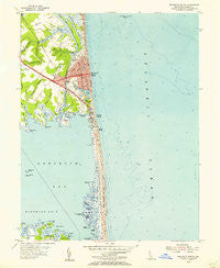 Rehoboth Beach Delaware Historical topographic map, 1:24000 scale, 7.5 X 7.5 Minute, Year 1954