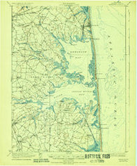 Rehoboth Delaware Historical topographic map, 1:62500 scale, 15 X 15 Minute, Year 1918