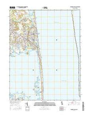 Rehoboth Beach Delaware Current topographic map, 1:24000 scale, 7.5 X 7.5 Minute, Year 2016 from Delaware Maps Store