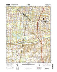 Saint Georges Delaware Current topographic map, 1:24000 scale, 7.5 X 7.5 Minute, Year 2016