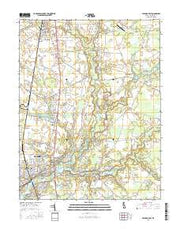 Seaford East Delaware Current topographic map, 1:24000 scale, 7.5 X 7.5 Minute, Year 2016 from Delaware Maps Store