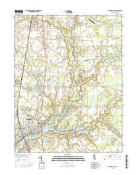 Seaford East Delaware Current topographic map, 1:24000 scale, 7.5 X 7.5 Minute, Year 2016