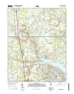 Selbyville Delaware Current topographic map, 1:24000 scale, 7.5 X 7.5 Minute, Year 2016 from Delaware Map Store