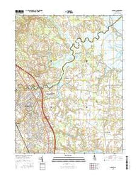 Smyrna Delaware Current topographic map, 1:24000 scale, 7.5 X 7.5 Minute, Year 2016