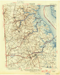 Smyrna Delaware Historical topographic map, 1:62500 scale, 15 X 15 Minute, Year 1931