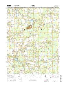 Trap Pond Delaware Current topographic map, 1:24000 scale, 7.5 X 7.5 Minute, Year 2016
