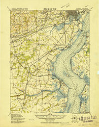 Wilmington Delaware Historical topographic map, 1:62500 scale, 15 X 15 Minute, Year 1919