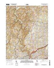 Wilmington North Delaware Current topographic map, 1:24000 scale, 7.5 X 7.5 Minute, Year 2016 from Delaware Maps Store