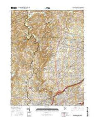 Wilmington North Delaware Current topographic map, 1:24000 scale, 7.5 X 7.5 Minute, Year 2016