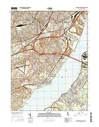Wilmington South Delaware Current topographic map, 1:24000 scale, 7.5 X 7.5 Minute, Year 2016