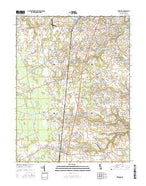 Wyoming Delaware Current topographic map, 1:24000 scale, 7.5 X 7.5 Minute, Year 2016 from Delaware Map Store