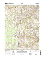 Wyoming Delaware Current topographic map, 1:24000 scale, 7.5 X 7.5 Minute, Year 2016 from Delaware Maps Store