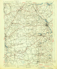 Wyoming Delaware Historical topographic map, 1:62500 scale, 15 X 15 Minute, Year 1931