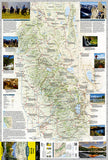 Sierra Nevada DestinationMap by National Geographic Maps - Front of map