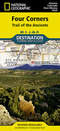 Buy map Four Corners, Trail of the Ancients DestinationMap by National Geographic Maps