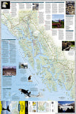 Alaskas Inside Passage DestinationMap by National Geographic Maps - Front of map