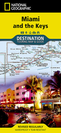 Buy map Miami, Florida and the Keys Destination Map by National Geographic Maps