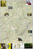 Pocono Mountains, PA, DestinationMap by National Geographic Maps - Front of map