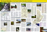 Pocono Mountains, PA, DestinationMap by National Geographic Maps - Back of map