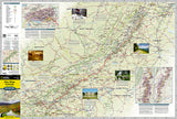 Destination Map, Blue Ridge Parkway by National Geographic Maps - Front of map