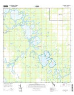 Alligator Bay Florida Current topographic map, 1:24000 scale, 7.5 X 7.5 Minute, Year 2015 from Florida Map Store