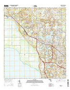 Apopka Florida Current topographic map, 1:24000 scale, 7.5 X 7.5 Minute, Year 2015 from Florida Map Store