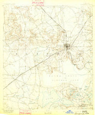 Arredondo Florida Historical topographic map, 1:62500 scale, 15 X 15 Minute, Year 1892