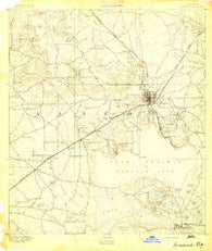 Arredondo Florida Historical topographic map, 1:62500 scale, 15 X 15 Minute, Year 1894