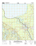 Astor Florida Current topographic map, 1:24000 scale, 7.5 X 7.5 Minute, Year 2015 from Florida Map Store
