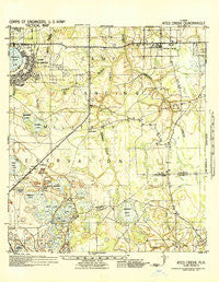 Ates Creek Florida Historical topographic map, 1:62500 scale, 15 X 15 Minute, Year 1942