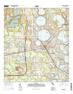 Auburndale Florida Current topographic map, 1:24000 scale, 7.5 X 7.5 Minute, Year 2015 from Florida Map Store